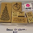 Peace on Earth stamp set, $10