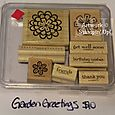 Garden Greetings stamp set, $10