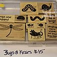 Bugs & Kisses stamp set, $15