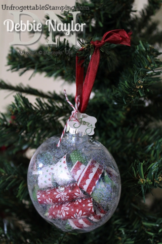Unfrogettable Stamping | Fabulous Friday Trim the Tree Christmas ornament