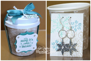 Unfrogettable Stamping | 2014 Week 6 Snowflake Earrings gift set tutorial