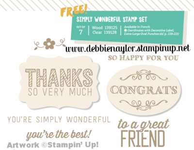 Unfrogettable Stamping | Simply Wonderful Sale-a-Bration stamp set