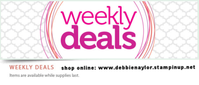 Unfrogettable Stamping   Weekly Deals from Stampin' Up!