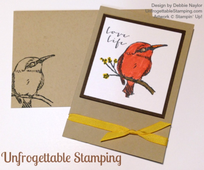 Unfrogettable Stamping | Quick & Easy card for the week of 2015-02-09 featuring the Sale-a-Bration stamp set A Happy Thing