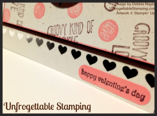 Unfrogettable Stamping | Fabulous Friday Valentine card featuring the Groovy Love stamp set and new Rose Coral chalk ink pad