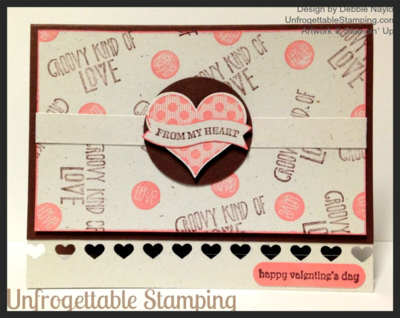 Unfrogettable Stamping | Fabulous Friday Valentine card featuring the Groovy Love stamp set and new Rose Coral chalk ink