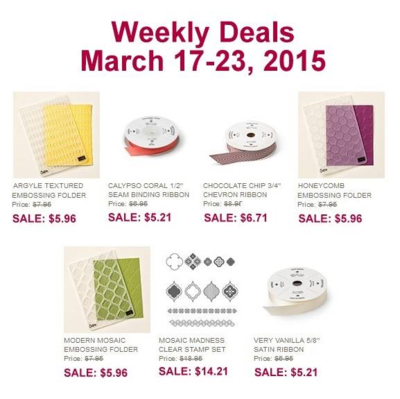 Unfrogettable Stamping   Weekly Deals from Stampin' Up! week of Mar 17-23, 2015
