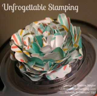 Unfrogettable Stamping | Altered candy jar for my office featuring Stampin' Up! Best Year Ever DSP