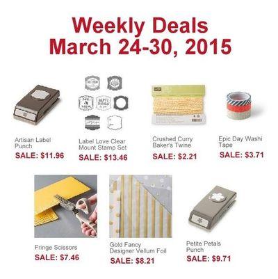 Weekly Deals Mar 24-30 2015