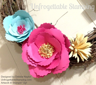 Unfrogettable Stamping | Fabulous Friday Spring Flower Wreath featuring the Bouquet Bigz L die from Stampin' Up!
