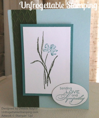Unfrogettable Stamping | Sympathy card featuring Love and Sympathy stamp set by Stampin' Up!