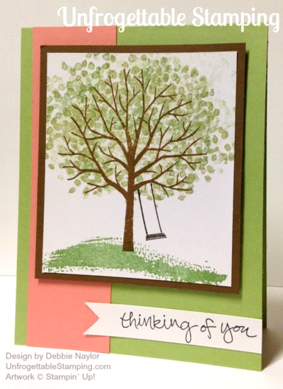 Unfrogettable Stamping | QE Thinking of You card featuring Sheltering Tree from Stampin' Up! for week of 2015-04-13