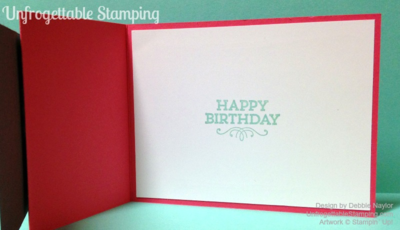 Unfrogettable Stamping | Fabulous Friday Z-fold birthday card featuring the retiring Regarding Dahlias and Hey You stamp sets by Stampin' Up!  Get these sets before they're gone!
