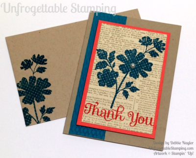 Unfrogettable Stamping | QE thank you card featuring the retiring Gifts of Kindness, Four You and Dictionary stamp sets and Argyle textured impression folder by Stampin' Up!