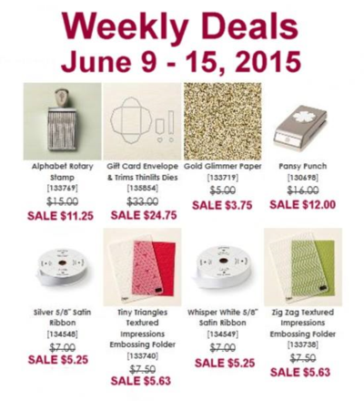 Unfrogettable Stamping | Weekly Deals from Stampin' Up! for June 9-15 2015