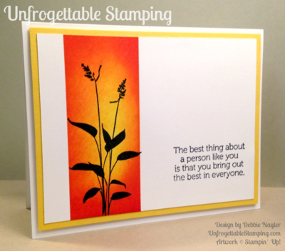 Unfrogettable Stamping | QE  sponged card featuring the World of Dreams stamp set and new Watermelon Wonder In Color by Stampin' Up! for week of 2015-06-29