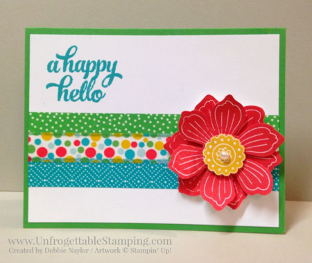 Unfrogettable Stamping | QE All-occasion card featuring the Bloom for You single stamp and Cherry on Top designer washi tape by Stampin' Up! for week of 2015-08-31