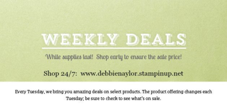 Unfrogettable Stamping   Shop with me for Weekly Deals from Stampin' Up!