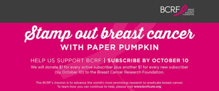 Unfrogettable Stamping | Stampin' Up! is going to help Stamp Out Breast Cancer with Paper Pumpkin during October 2015