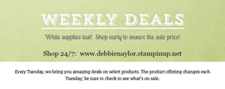 Unfrogettable Stamping | Shop with me for Weekly Deals from Stampin' Up!