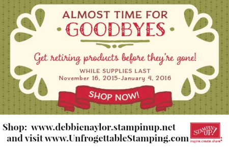 Unfrogettable Stamping | Retiring 2015 Holiday Catalog products list released by Stampin' Up! - get them while supplies last!!