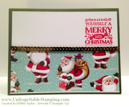 Unfrogettable Stamping | 2015 QE Week 11 Christmas card featuring the Cozy Christmas stamp set and Home for Christmas DSP by Stampin' Up!