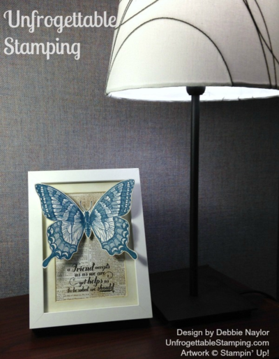 Unfrogettable Stamping | Fabulous Friday Swallowtail altered frame