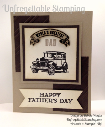 Unfrogettable Stamping | Fabulous Friday Guy Greetings Fathers Day card