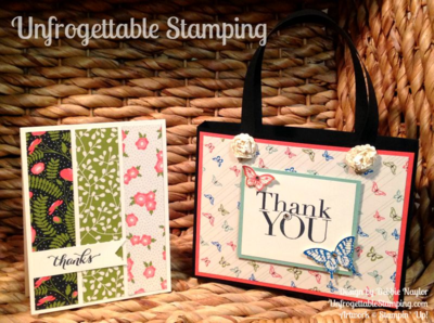 Unfrogettable Stamping | Fabulous Friday purse and note card set