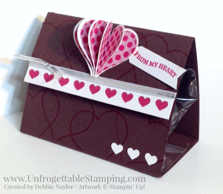 Unfrogettable Stamping | Fabulous Friday Valentine Favor featuring Groovy Love stamp set, Sweetheart, Hearts Border and Banner punches by Stampin' Up!