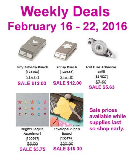 Unfrogettable Stamping | Weekly deals for Feb 16-22 from Stampin' Up!
