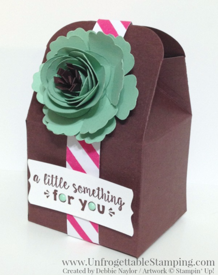 Unfrogettable Stamping | Fabulous Friday flower favor featuring the Baker's Box framelit and Spiral Flower Originals die for the Big Shot along with the It's My Party product suite by Stampin' Up!