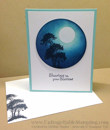 Unfrogettable Stamping | QE sponged sympathy card featuring the Serene Silhouettes stamp set by Stampin' Up! for week of 2016-02-29