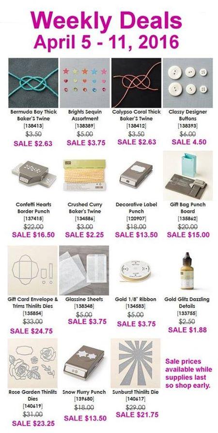 Weekly Deals Apr 5 - 11