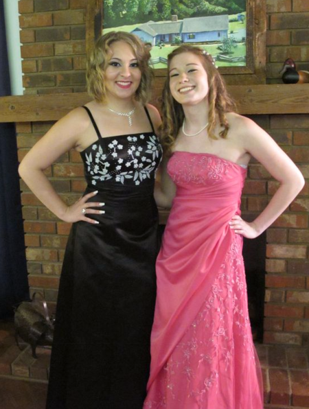 Amanda and Kelsey Prom