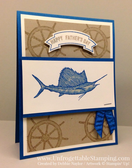 Unfrogettable Stamping | Fabulous Friday Fathers Day card featuring the From Land to Sea stamp set by Stampin' Up!