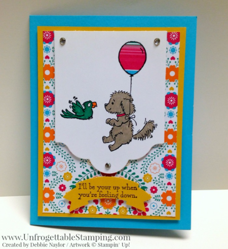 Unfrogettable Stamping | Fabulous Friday card for National Dog Day featuring the Bella & Friends stamp set and Festive Birhtday DSP by Stampin' Up!