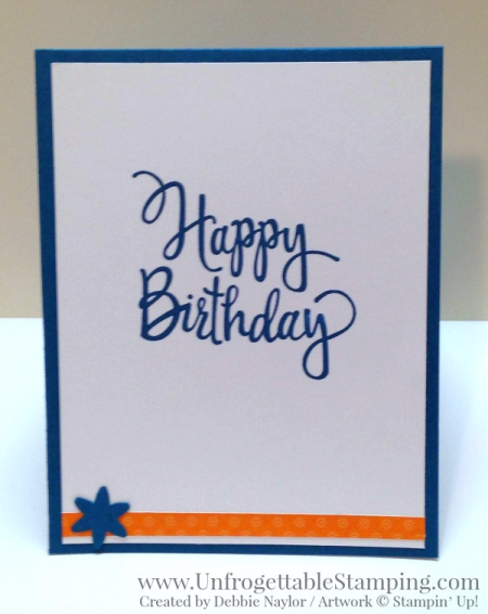 Unfrogettable Stamping | Fabulous Friday College Colors card featuring the Homemade for You stamp set, Festive Birthday DSP and multiple punches by Stampin' Up!