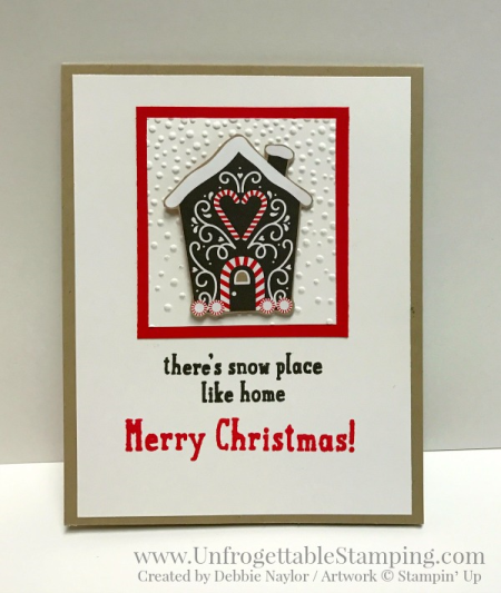 Unfrogettable Stamping | 2016 QE Christmas Week 4 card featuring the Candy Cane Lane DSP by Stampin' Up!