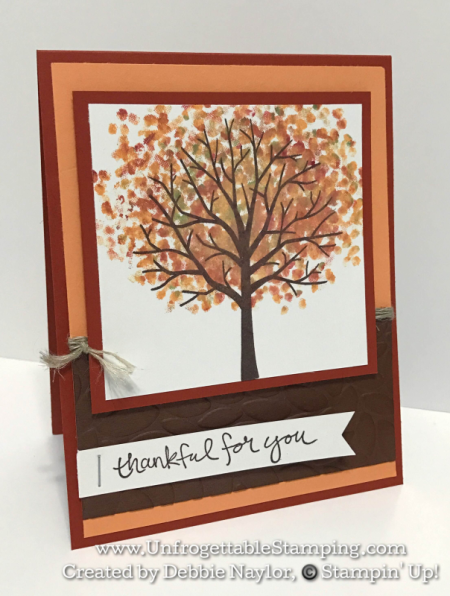 Unfrogettable Stamping | Fabulous Friday thank you card featuring the Sheltering Tree stamp set by Stampin' Up!