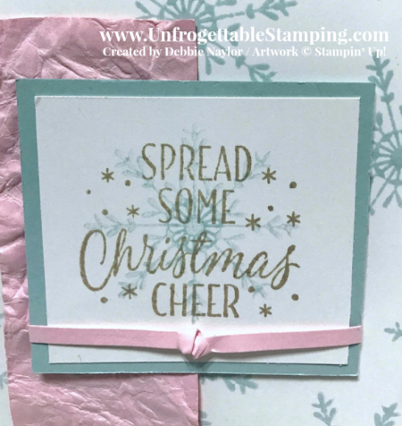 Unfrogettable Stamping | Fabulous Friday SIP Christmas card featuring the Tin of Tags stamp set by Stampin' Up!