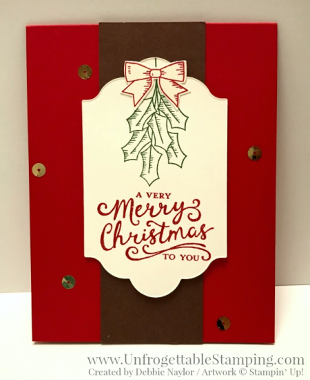 Unfrogettable Stamping | 2016 Week 7 QE Christmas card featuring the Holly Berry Happiness stamp set, coordinating Holly Berry Builder punch and Reason for the Season stamp set by Stampin' Up!