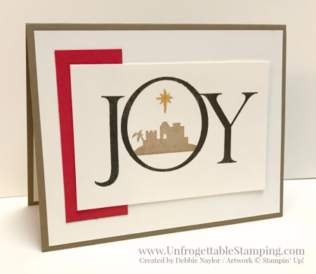 Unfrogettable Stamping | Week 8 of 2016 QE Christmas card featuring the Joyful Nativity stamp set in Neutrals by Stampin' Up!
