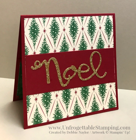 Unfrogettable Stamping | 2016 QE Christmas Week 12 gift card holder featuring the This Christmas specialty DSP, Holly Berry Happiness stamp set and coordinating punch and Wonderful Wreath framelits by Stampin' Up!