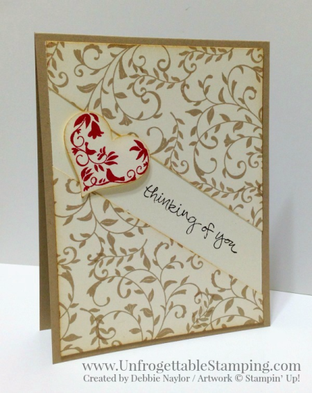 Unfrogettable Stamping | QE thinking of you card featuring the First Sight and Sheltering Tree stamp sets by Stampin' Up! for the week of 2017-02-06