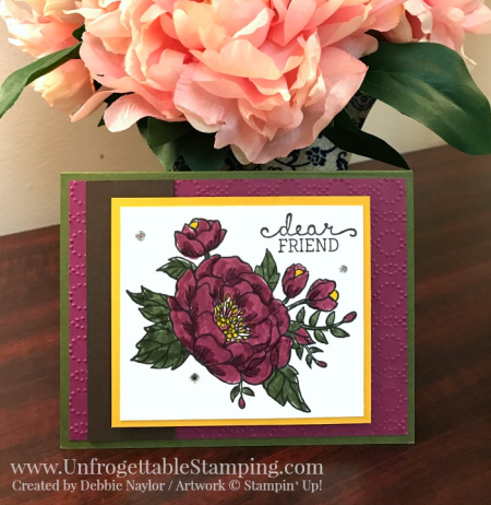 Unfrogettable Stamping | Fabulous Friday dear friend card featuring the Birthday Blooms stamp set by Stampin' Up!