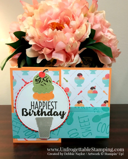 Unfrogettable Stamping   Fabulous Friday double z fold birthday card featuring the  Sweet Treats product suite from Stampin' Up!