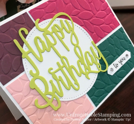 Unfrogettable Stamping | Fabulous Friday birthday card featuring the 5 new In Colors from Stampin' Up!