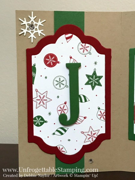Unfrogettable Stamping | Fabulous Friday Christmas Decor featuring the Be Merry DSP, Big Shot die cut machine, Lots of Labels framelits, Large Letters Framelits and Seasonal Layers Thinlits by Stampin' Up!