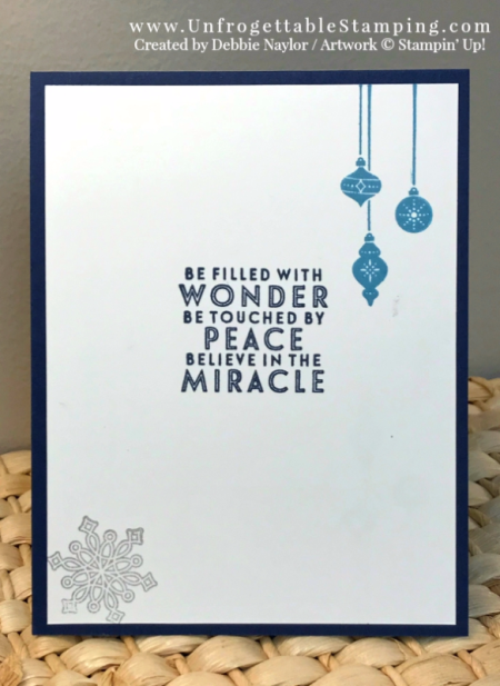 Unfrogettable Stamping   November 2017 Stampers Dozen Blog Hop - Christmas card featuring Silver Foil and the Carols of Christmas and Flurry of Wishes stamp sets by Stampin' Up!